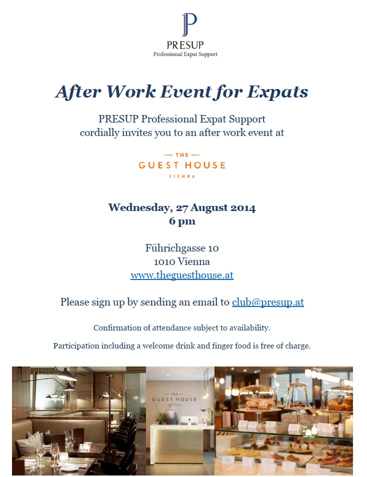 After Work Event for Expats